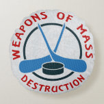 Almohada redonda de las armas de destrucción