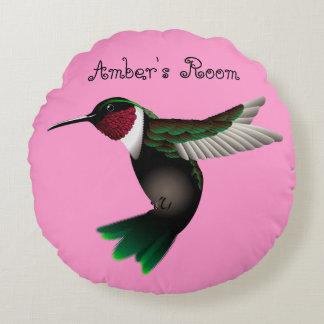 Almohada redonda del acento del colibrí