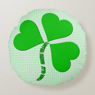 Almohada redonda del día de St Patrick verde del Cojín Redondo