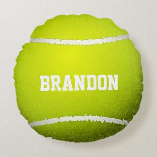 Almohada redonda del diseño de la pelota de tenis