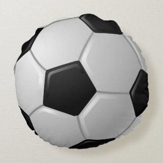 Almohada redonda del diseño del balón de fútbol