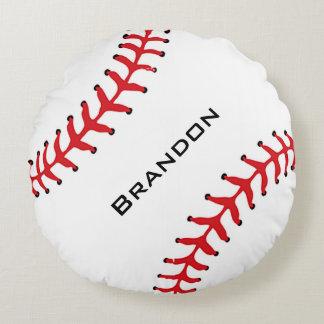 Almohada redonda del diseño del béisbol