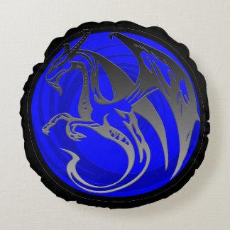 Almohada redonda del dragón del ala del grunge del cojín redondo