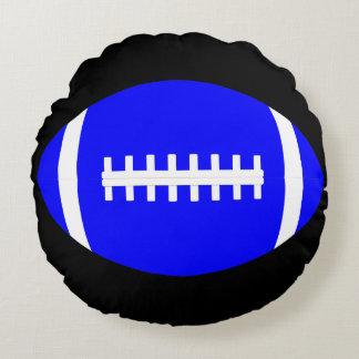 Almohada redonda del fútbol azul cojín redondo