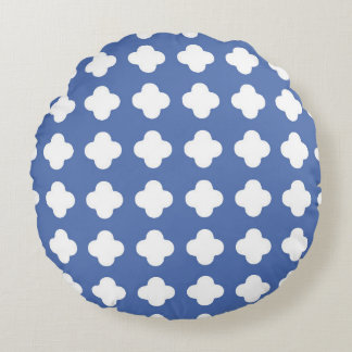 Almohada redonda del modelo geométrico azul y cojín redondo