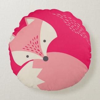 Almohada redonda del rosa del dibujo animado lindo cojín redondo
