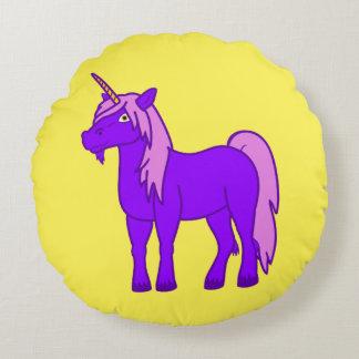 Almohada redonda del unicornio púrpura cojín redondo