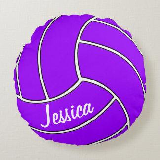 Almohada redonda del voleibol púrpura de encargo cojín redondo