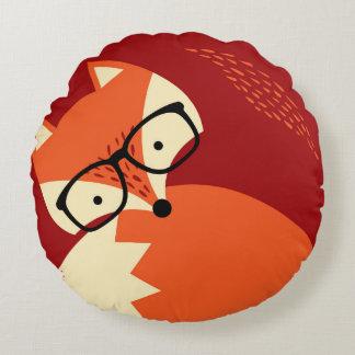 Almohada redonda roja del dibujo animado de los cojín redondo