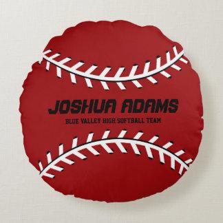 Almohada redonda roja del equipo de deportes de cojín redondo