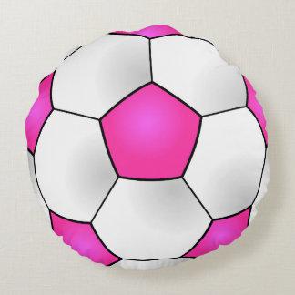 Almohada redonda rosada del balón de fútbol cojín redondo