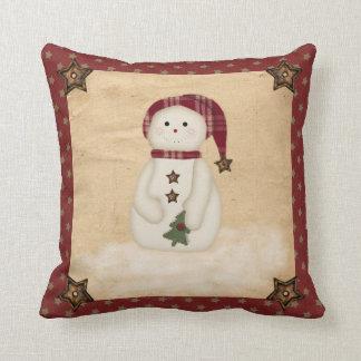Almohada remilgada del muñeco de nieve del país
