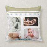 Almohada retra azul del recuerdo del bebé de las e