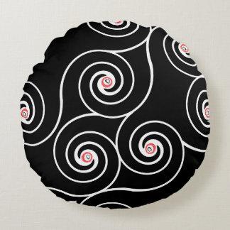 Almohada retra de la decoración de los giros cojín redondo