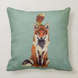 Almohada retra del Fox y del búho