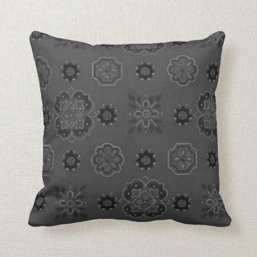 Almohada retra del negro del carbón de leña de las
