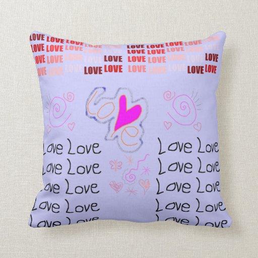 Almohada reversible del amor - rosa/azul