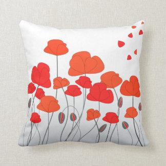 Almohada roja de las amapolas