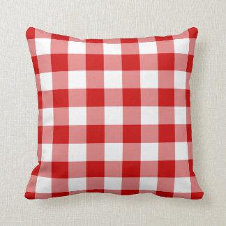 Almohada roja de MoJo del americano de la guinga