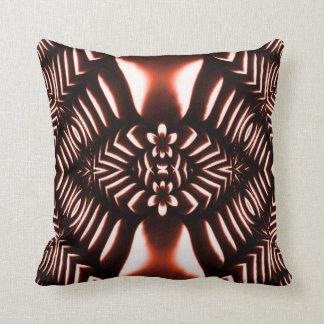 Almohada roja de MoJo del americano del fractal de