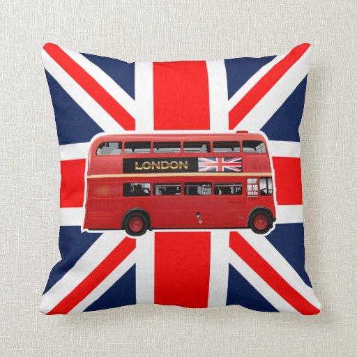 Almohada roja del autobús de Londres