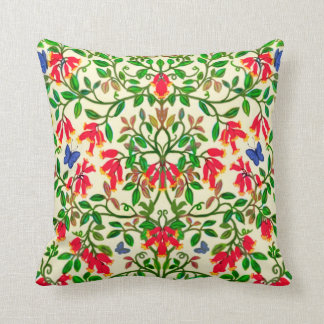 Almohada roja del diseño de la vid de trompeta cojín decorativo