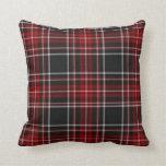 Almohada roja del tartán de la tela escocesa