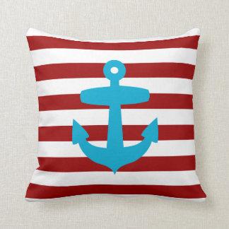 Almohada roja y azul del ancla del marinero