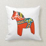Almohada roja y azul del caballo de Dala