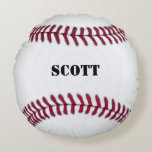 Almohada roja y blanca de encargo del béisbol