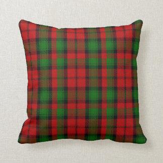 Almohada roja y verde de la tela escocesa de tartá