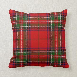 Almohada roja y verde del navidad de la tela