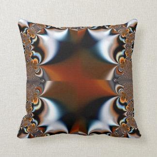 Almohada rojo marrón de MoJo del americano del cor