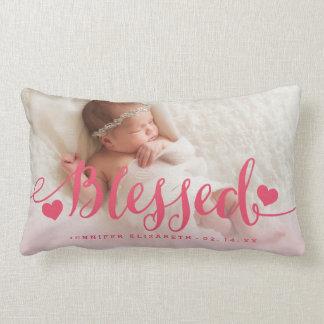 Almohada rosada bendecida del recuerdo de la foto