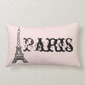 Almohada rosada de la torre de París del vintage Cojín Lumbar
