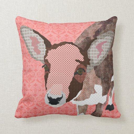 Almohada rosada de MoJo del cervatillo