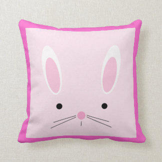 Almohada rosada del conejito para el cuarto de niñ