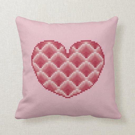 Almohada rosada del corazón