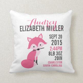 Almohada rosada del cuarto de niños de la