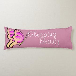 Almohada rosada del cuerpo de la mariposa - bella cojin cama