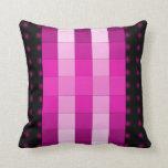Almohada rosada del diseño del color de la magenta