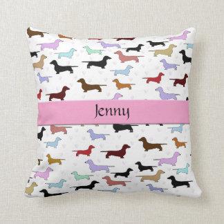 Almohada rosada del perro del Dachshund