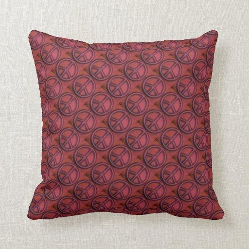 Almohada rosada del signo de la paz