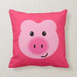 Almohada rosada linda del cerdo