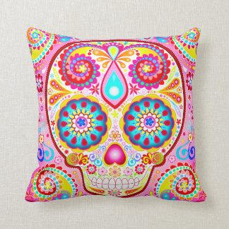 Almohada rosada linda del cráneo del azúcar - día