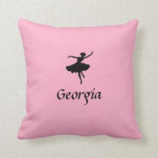 Almohada rosada personalizada del ballet