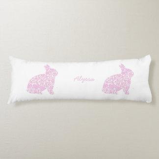 Almohada rosada personalizada del cuerpo del cojin cama