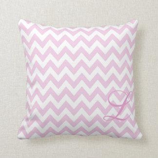 Almohada rosada y blanca del cuarto de niños del m