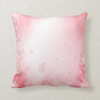 Almohada rosada y floral