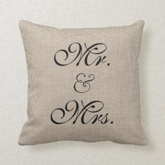 Almohada rústica de la tabla del amor cojín decorativo